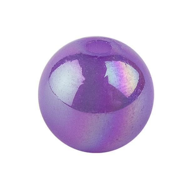 Perlen, irisierend, Ø 10mm, violett-irisierend, 50 Stk.