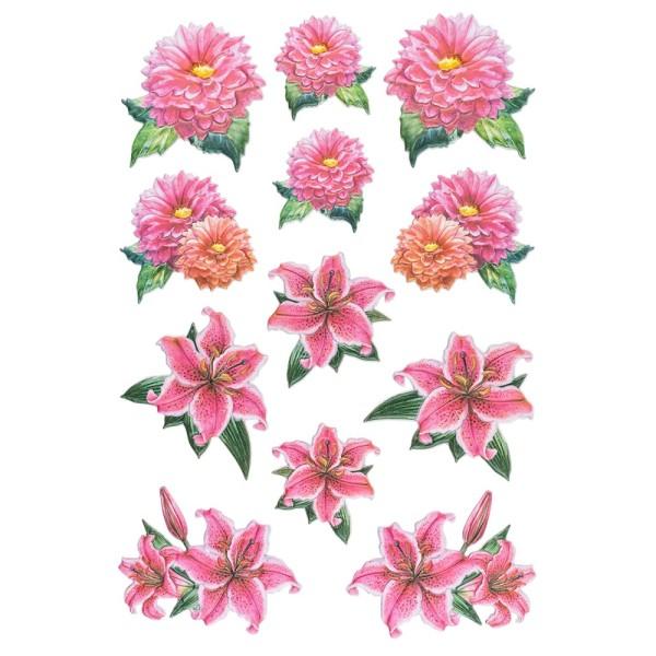 3-D Relief-Sticker, Blumen & Schmetterlinge 5, 21cm x 30cm, in versch. Größen, selbstklebend