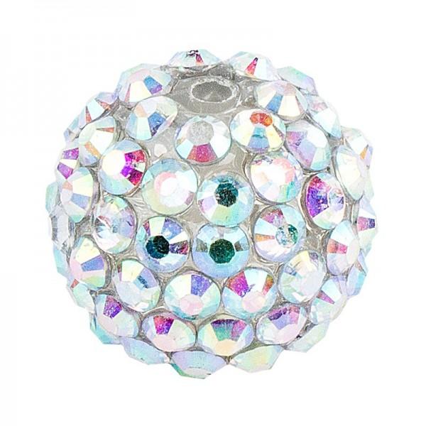 Kristall-Perlen, Ø 18mm, klar-irisierend, 10 Stück