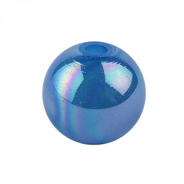 Perlen, irisierend, Ø 8mm, blau-irisierend, 100 Stk.