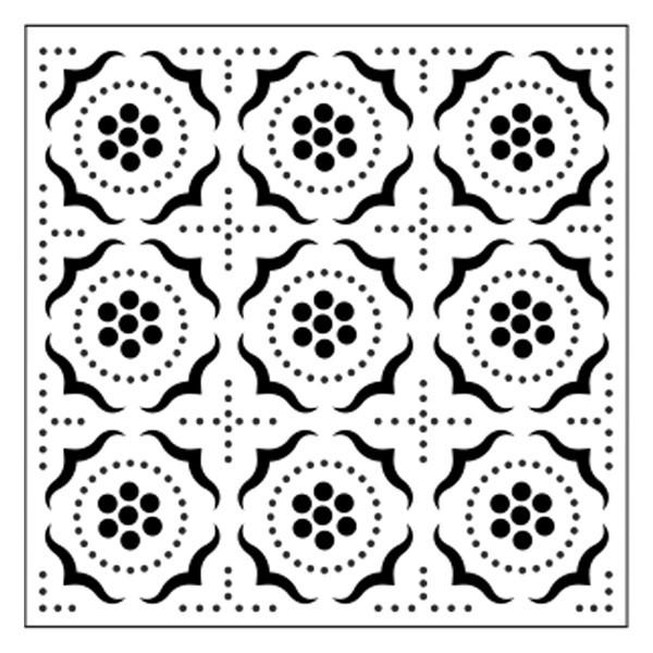 Präge-/Prickelschablone, 12 x 12 cm, Design 4