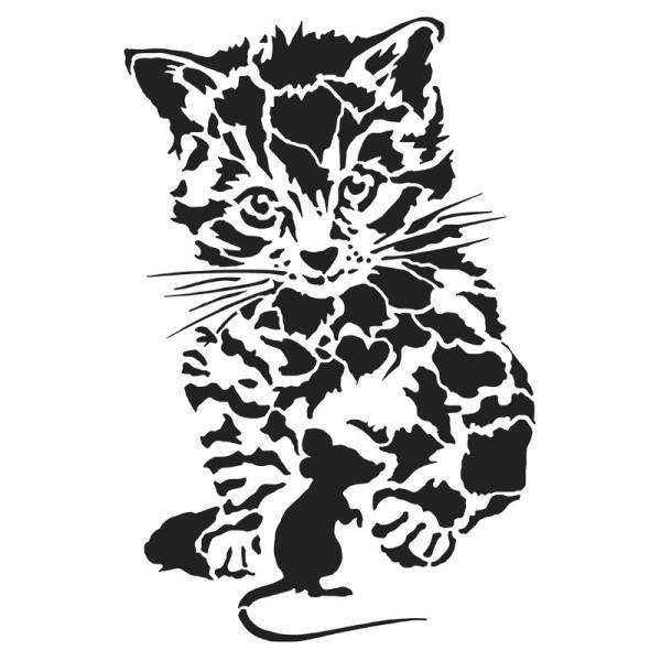 Laser-Kunststoff-Schablone, DIN A4, Katz & Maus
