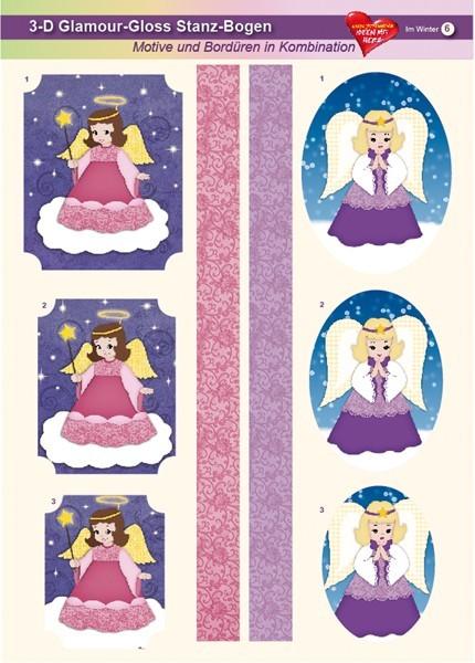 3-D GlamourGloss Bogen, Im Winter, DIN A4, Motiv 6