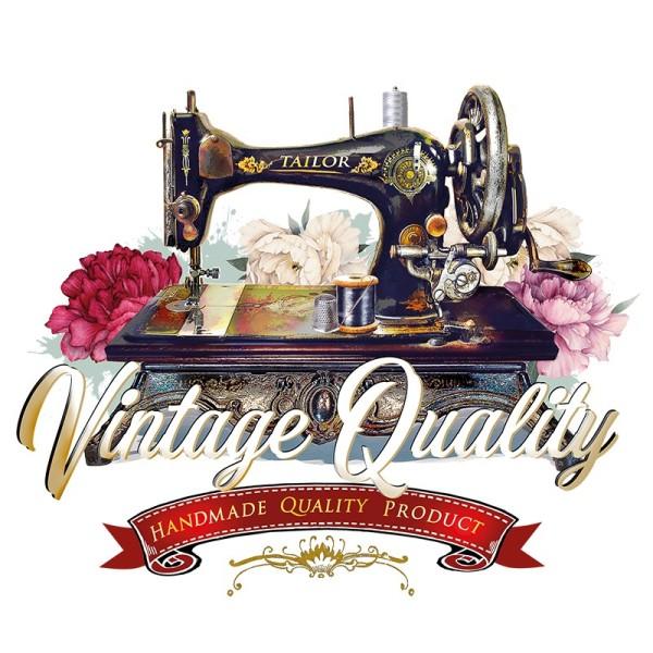 Color Bügeltransfer, DIN A4, Vintage-Nähmaschine