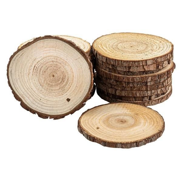 Baumscheiben, Ø 9cm bis 10cm, 0,6cm stark, 20 Stück