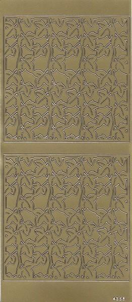 Sticker, Hintergrundornamentik Blätter, gold