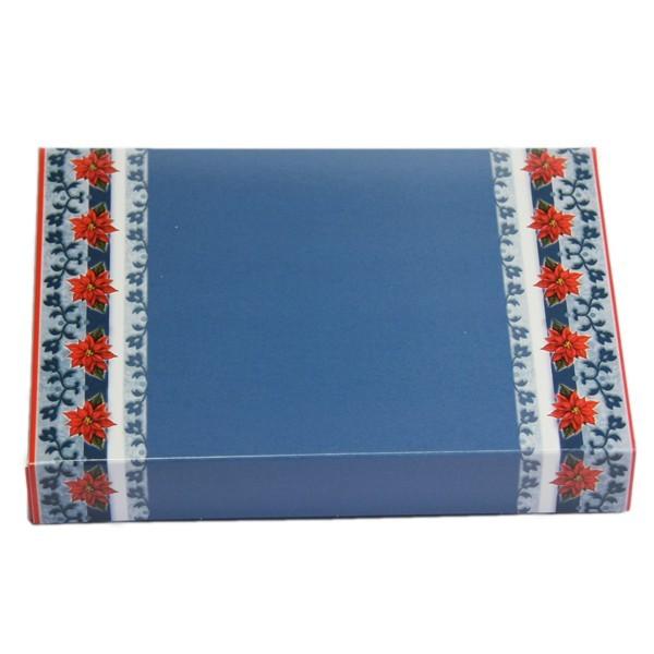 Geschenkbox, B6, Weihnachtsstern, blau