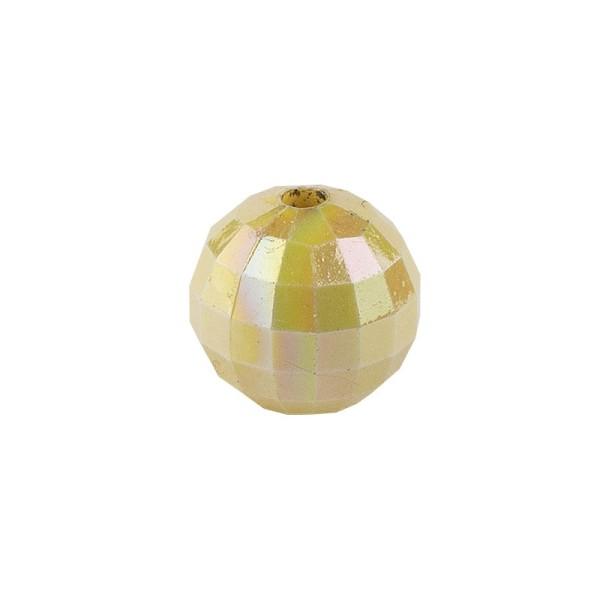 Perlen, facettiert, Ø 6mm, hellgold-irisierend, 150 Stk.