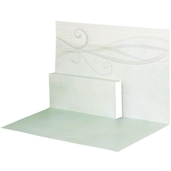 Pop-Up-Grußkarten-Einleger, gefaltet 11 x 15,5 cm, Schwung, grün