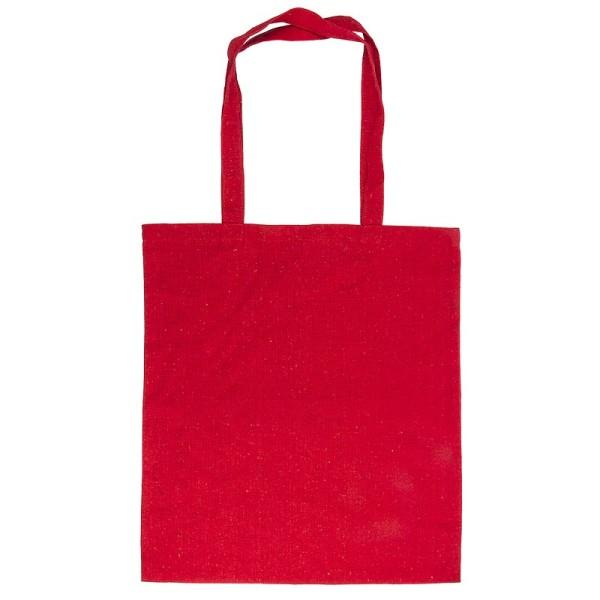 Textil-Tasche, 38cm x 42cm, mit zwei Lang-Henkeln, rot