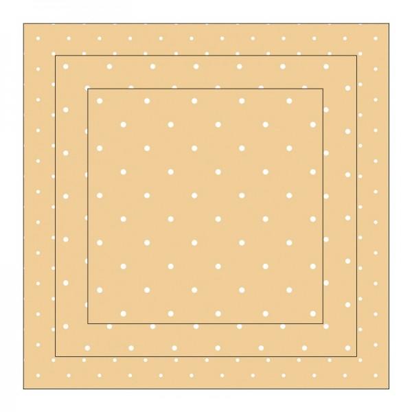 Faltpapiere, Duo-Design 6, 110 g/m², Punkte/apricot, 150 Stück