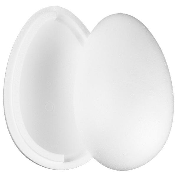 Styropor-Ei, 2-teilig, 16 cm hoch, Ø 11 cm