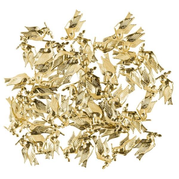 Messing Ornamente, Friedenstaube, 50 Stück