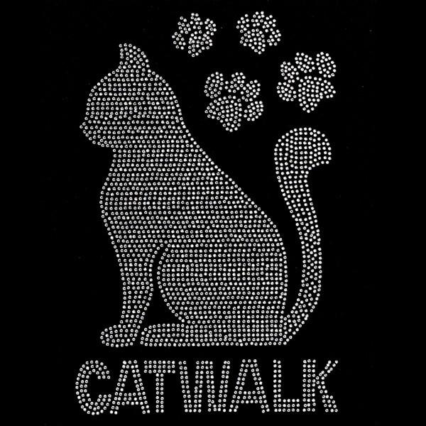 Bügelstrass-Design, DIN A4, Katzen Silhouette
