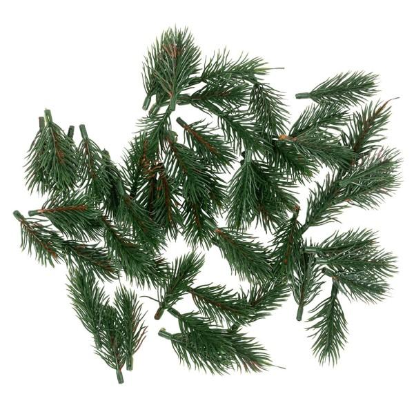 Deko-Tannenzweige, grün, 6,5cm, 55 Stück