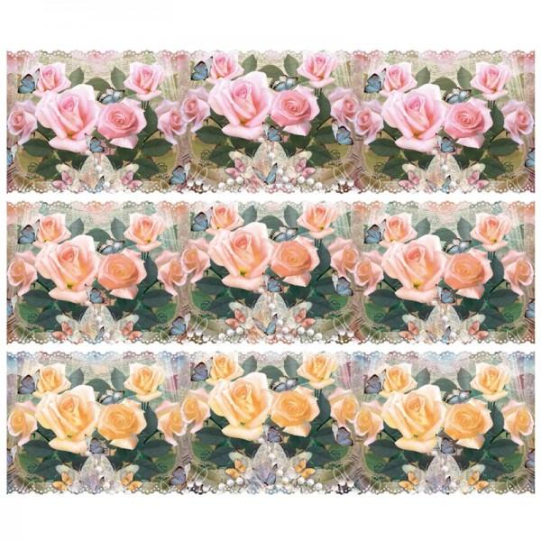"""Zauberfolien """"Rosentraum"""", Schrumpffolien für Ø12cm, 11 cm hoch, 6 Stück"""
