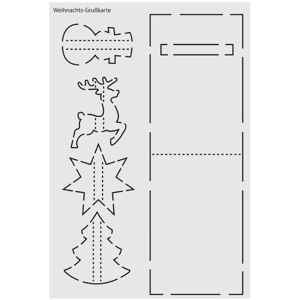 """Design-Schablone Nr. 4 """"Weihnachts-Grußkarte"""", DIN A4"""