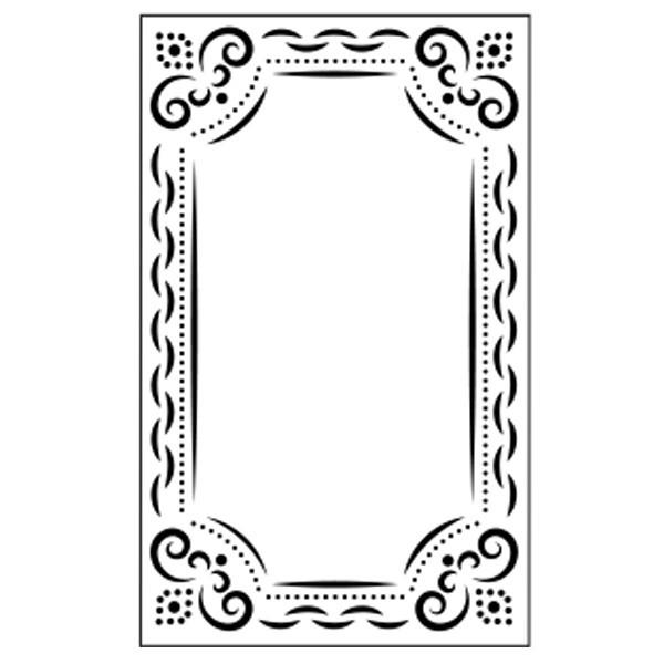 Präge-/Prickelschablone, 14,5 x 9 cm, Design 9