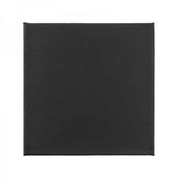 Leinwand auf Keilrahmen, 20cm x 20cm, 280g/m², schwarz