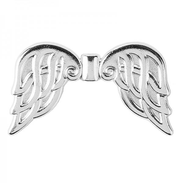 Engelsflügel, Design 6, 3,7cm, silber, 10 Stück