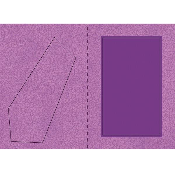 Bilderrahmen-Karte, Krakelier-Optik, B6