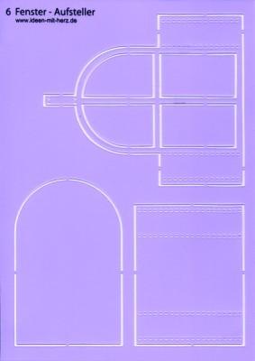 """Design-Schablone Nr. 6 """"Fenster-Aufsteller"""", DIN A4"""