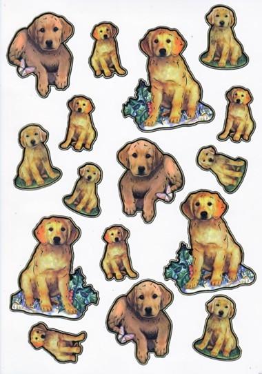 Ultra Gloss Sticker Bogen, Hund