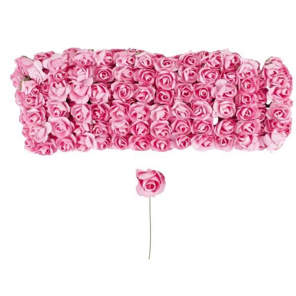 Deko-Blüten, Rosen, Ø 1cm, rosa, 144 Stück