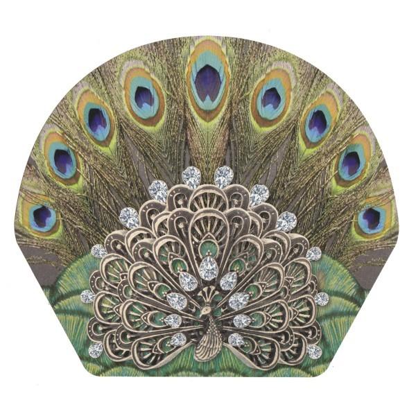 Deko-Bild, Pfau, 18,5 x 20,5 cm, 2er Set