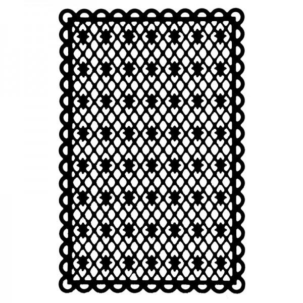 Stanzschablone, Kartenaufleger 2, 13,1cm x 8,5cm
