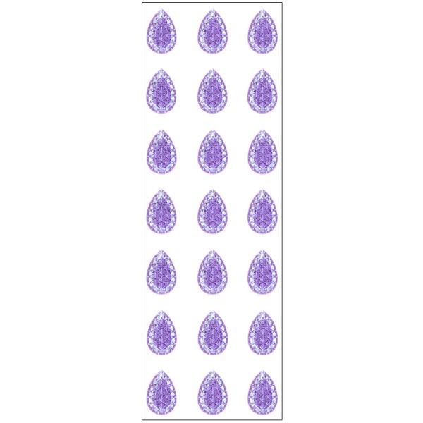 Kristallkunst, Schmuckstein Tropfen 1, 10cm x 30cm, selbstklebend, violett irisierend