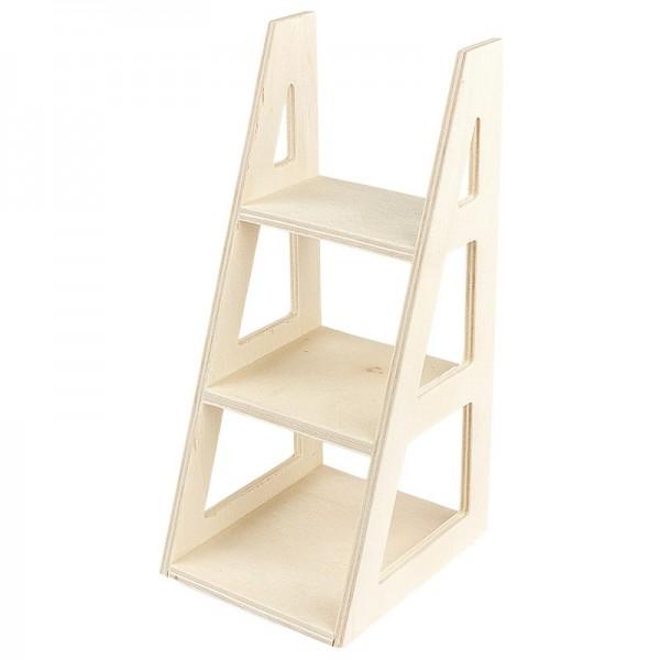 Treppen-Regal aus Holz, 16cm x 7cm x 8cm