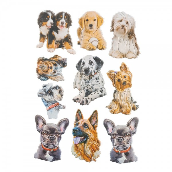 3-D Relief-Sticker, Tiere 3, verschiedene Größen, selbstklebend