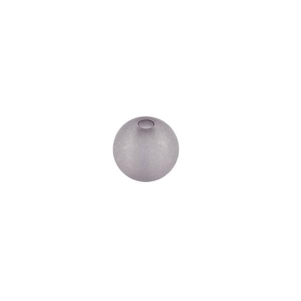 Perlen, gefrostet, Ø 4mm, 200 Stück, grau