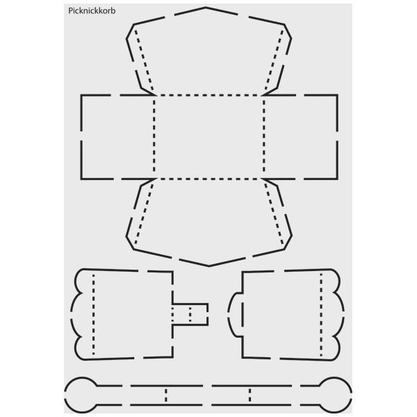 """Design-Schablone Nr. 1 """"Picknickkorb"""", DIN A4"""