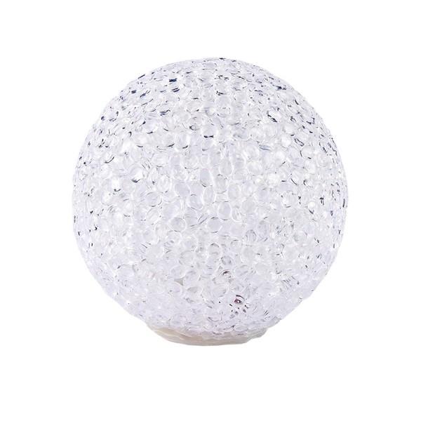 LED-Schneeball mit Timer, warmweiß, Ø 10cm
