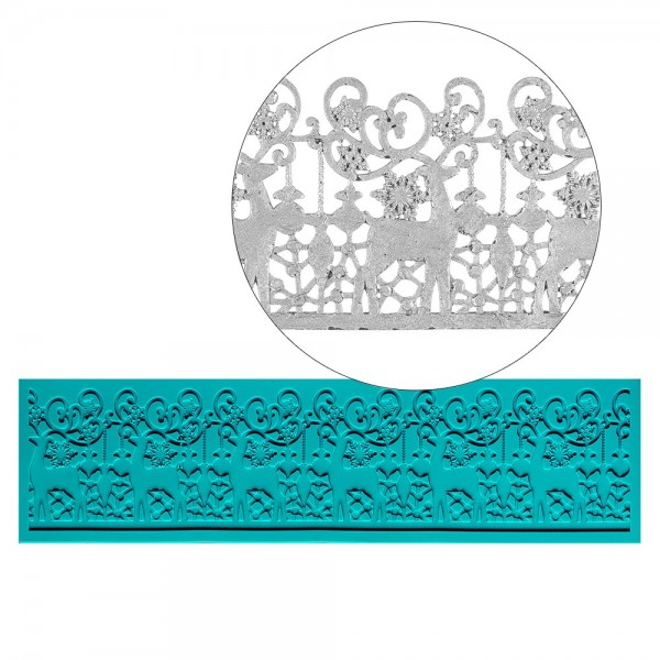 Silikon-Dekormatte, Design 17, 25,9cm x 7cm x 0,3cm