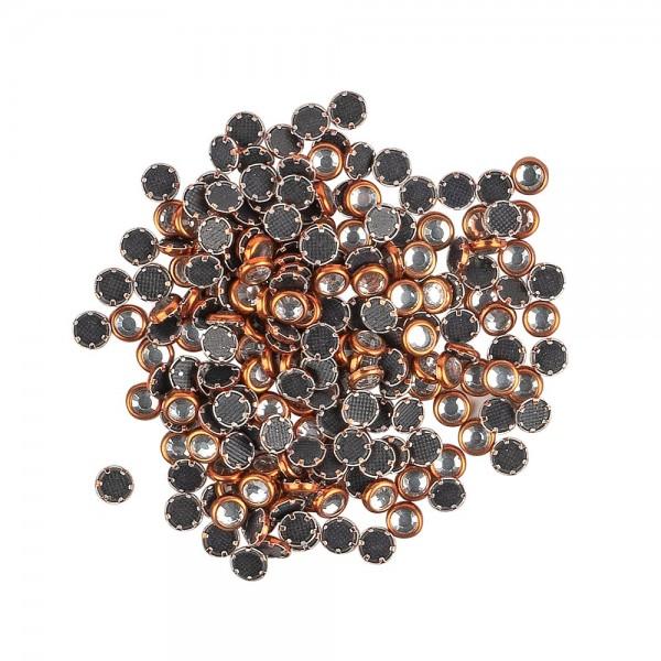Hot-Fix Glas-Kristalle zum Aufbügeln, Ø 4mm, orange, 200 Stück
