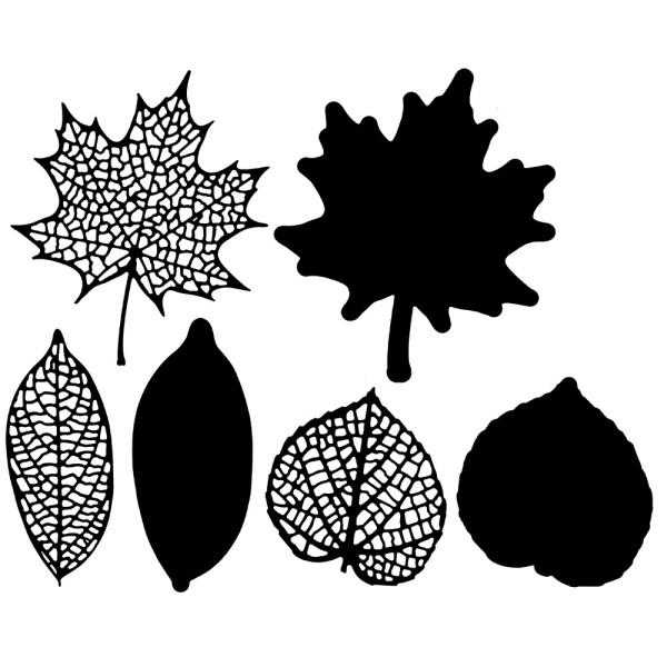 Stanzschablonen, Blätter, 6 Stück