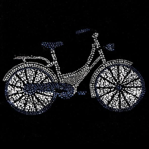 Bügelstrass-Design, DIN A4, mehrfarbig, Fahrrad