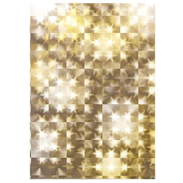 Lichteffekt-Folie, Stern, Kacheloptik, DIN A5, 10 Stück