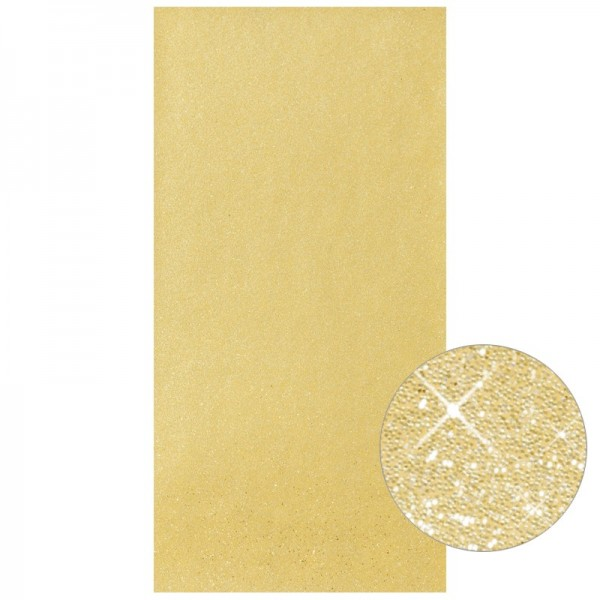 Glitter-Wachsplatte, 20cm x 10cm, gold