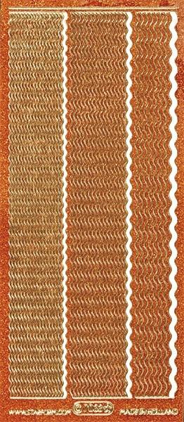 Microglitter-Sticker, Wellen-Linien, 3 Breiten, orange