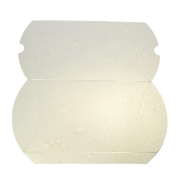 Geschenkbox, Kissen-Form, 22x13x4,5cm, folienkaschiert, champanger
