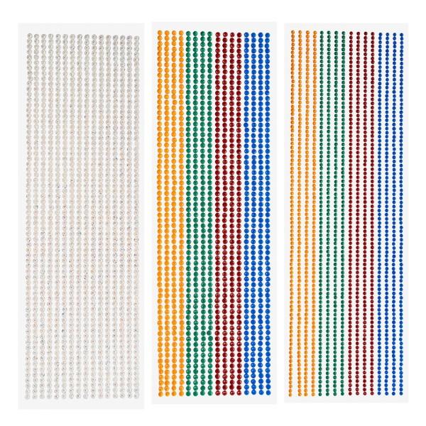 Kristallkunst-Bordüren, verschiedene Designs & Farben, selbstklebend, 3 Bogen