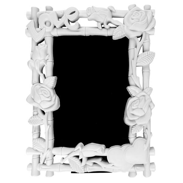 Relief Wechselrahmen, Design 10, weiß, 18,4cm x 23,8cm, für Fotos 13cm x 18cm