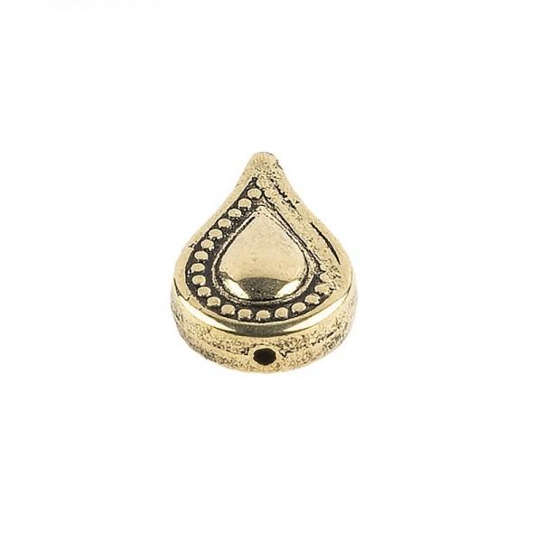 Perlen, Tropfen, 2cm x 1,3cm, antik-gold, 36 Stück