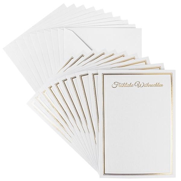Grußkarten, Fröhliche Weihnachten, B6, inkl. Umschläge, 10 Stückl