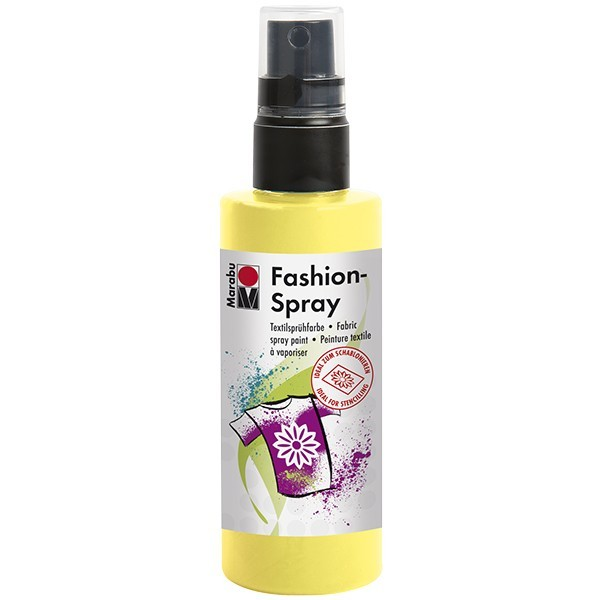 Marabu Fashion-Spray/Textil-Sprühfarbe, 100ml, zitron