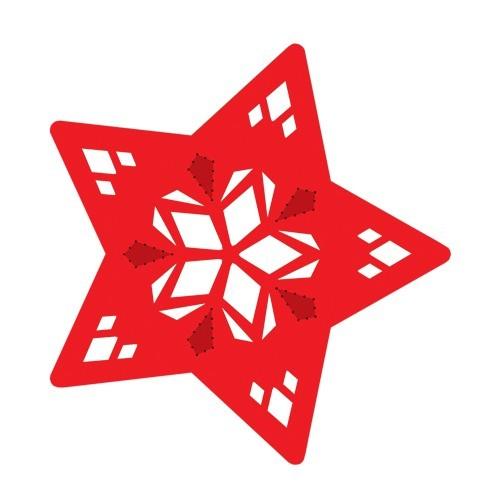 Stern-Stanzformen für 3-D Leuchtstern, 12 Stück, Design 8